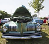 1941 Nash Ambassador Aqua Blue Car Front View