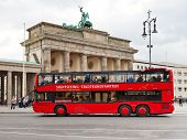 Red Tourist Double Decker Bus In Berlin