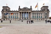 Front View Of Reichstag Building In Autumn