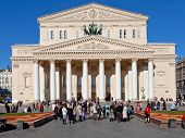 People Near Bolshoi Theatre In Moscow
