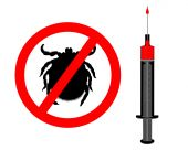 Symbol of Inoculation Against Ticks with injection