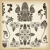 Old greek ornaments. Vector illustration.