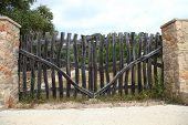 Old Rustic Wooden Gate