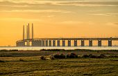 Oresund Bridge at dusk