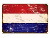 Netherlands Flag Enamel Sign
