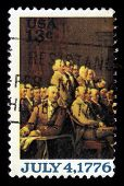Declaration Of Independence, Fragment Of A Painting By John Trumbull
