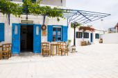 Outdoor Cafe Greek Architecture Lefkes Paros Cyclads Greece