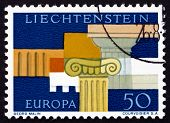 Postage Stamp Liechtenstein 1963 Greek Architectural Elements