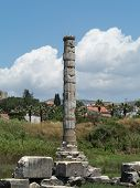 image of artemis  - Remains of Temple of Artemis one of the seven wonders of the world in ruins of the old city of Ephesus which was a famous Ancient Greek city now in Turkey - JPG
