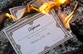 Burning Diploma