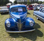 1940 Blue Ford Deluxe Car