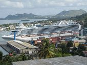Ruby Princess in St Lucia