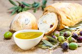 Ciabatta Bread With Olive Oil.