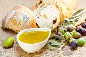 Ciabatta Bread With Olive Oil.