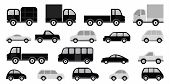 Cars collection (black & white)