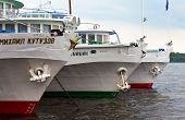 Samara, Russia - June 11: River Cruise Passenger Ships At The Moored On Volga River On June 11, 2012