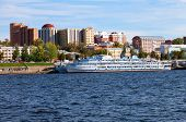 Samara, Russia - September 15: River Cruise Passenger Ships At The Moored On Volga River On Septembe