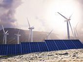 Solar Eco power and wind generators