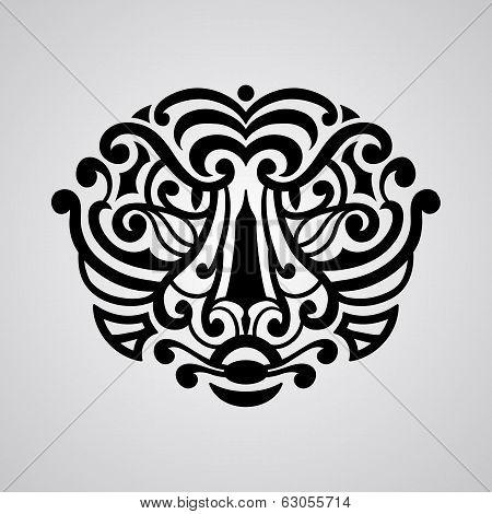 Татуировка тигр полинезия
