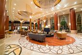 ABU DHABI, UAE - MARCH 26: Lobby and hall of Khalidiya Palace by Rotana on March 26, 2014, UAE. Rota