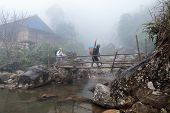 Hiker In Sapa District, Vietnam