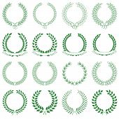 vector collection: laurel wreaths
