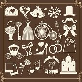 Wedding Design  Icons For Web And Mobile.vector