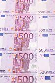Five hundred euro banknotes.