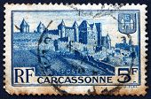 Postage Stamp France 1938 Medieval Walls Of Carcassonne