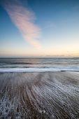 Stunning Sunset Over Beach Long Exposure Landscape