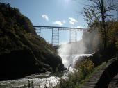 waterfall and train tressel