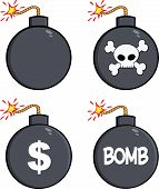 Various Cartoon Bomb  Collection Set