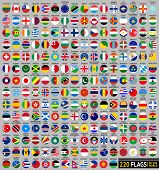220 Flags of the world, circular shape