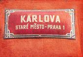 Old Street Sign In Prague, Czech Republic