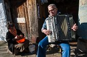 Accordion Player In Greece