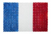 France Flag made of plastic pearls