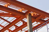 Metal Structure Of House Roof In Home Construction Site Use For Construction Business And Constructi