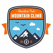 Mountain Adventure Badge Emblem