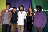 LAS VEGAS - APR 8:  Rick Glassman, Brent Morin, Chris D'Ella, Bianca Kajlich, Ron Funches at the NBC