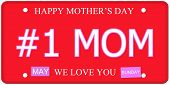 Number One Mom Mother's Day Plate