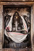 THANJAVUR, INDIA - FEBRUARY 13, 2013: : Ganesh statue in Hindu temple. Brihadishwarar Temple, Thanja