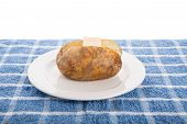 Baked Potato With Pat Of Butter