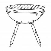 Sketch Of The Grill