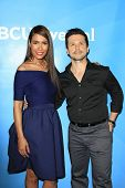 PASADENA - APR 8: Daniella Alonso, Freddy Rodriguez at the NBC/Universal's 2014 Summer Press Day hel