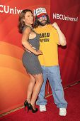 PASADENA - APR 8: Judah Friedlander, Kari Wuhrer at the NBC/Universal's 2014 Summer Press Day held a