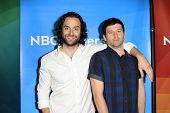 PASADENA - APR 8: Chris D' Ella, Brent Morin at the NBC/Universal's 2014 Summer Press Day held at th