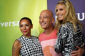 PASADENA - APR 8: Mel B, Howie Mandel, Heidi Klum at the NBC/Universal's 2014 Summer Press Day held at the Langham Hotel on April 8, 2014 in Pasadena, California