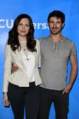 PASADENA - APR 8: Jill Flint, Eoin Macken at the NBC/Universal's 2014 Summer Press Day held at the L