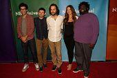 PASADENA - APR 8: Rick Glassman, Brent Morin, Chris D' Ella, Ron Funches, Bianca Kajlich at the NBC/
