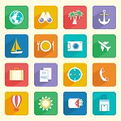 Travel Vacation Icons Set